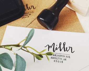 Return Address Stamp - Personalized Calligraphy Stamp