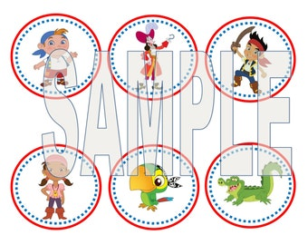 Jake & The Neverland Pirate Cupcake Toppers- PRINTABLE