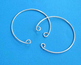 Silver Plated Bangle Bracelet Open Cuff Style High Quality - N315