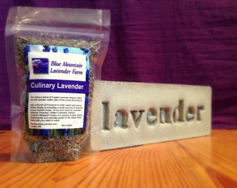 Culinary Lavender, 1/4 Pound Dried Lavender for Cooking