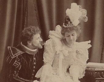 Flora Macdonald, Opera singer, D'Oyly Carte Opera Company, cabinet card, antique.  In costume, Warwick Brookes, Manchester. 1896-1900.