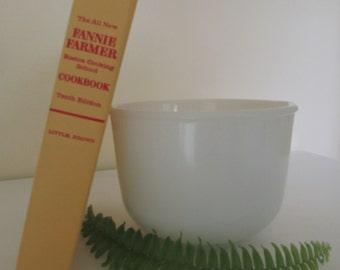 SALE -- Fire King White Milk Glass Mixing Bowl