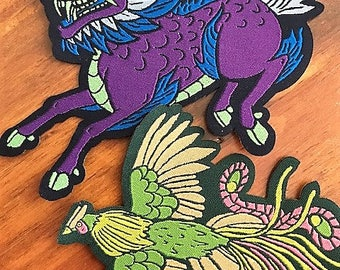 Custom Patches - 100 - SEW ON - Your own artwork - Up to 10 Colors - made in USA