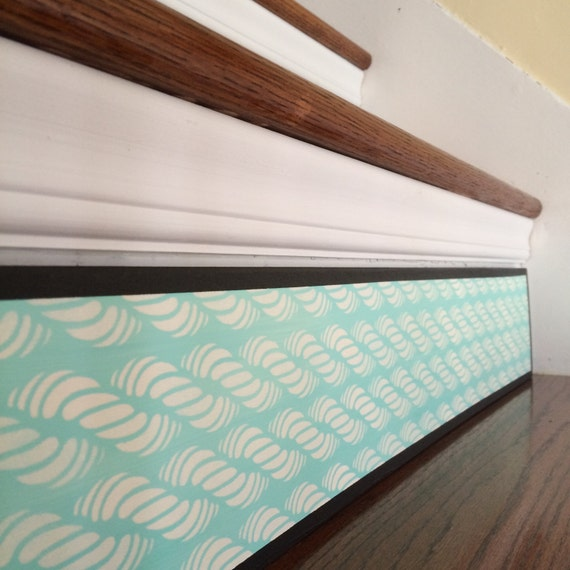 Carved Wood Stair Risers Stair Ideas Stamped Leather: Nautical Decor / Handmade Stair Riser Instead Of Stair Riser