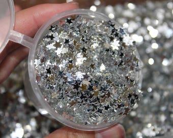 Silver Star Glitter