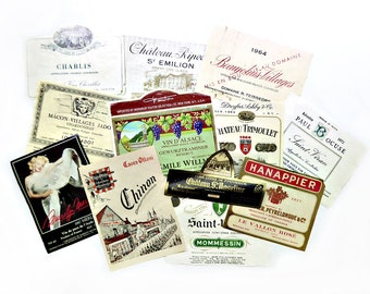 12 French Wine Labels