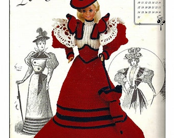 The Gibson Girl Collection of the Gay Nineties July Fashion Doll  Crochet Pattern  Annies Calendar Bed Doll Society 7707