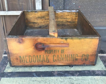 Vintage Canning crate