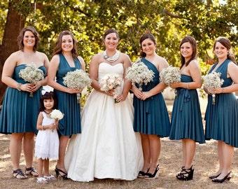 Bridesmaid Dress Short Infinity Wrap Style