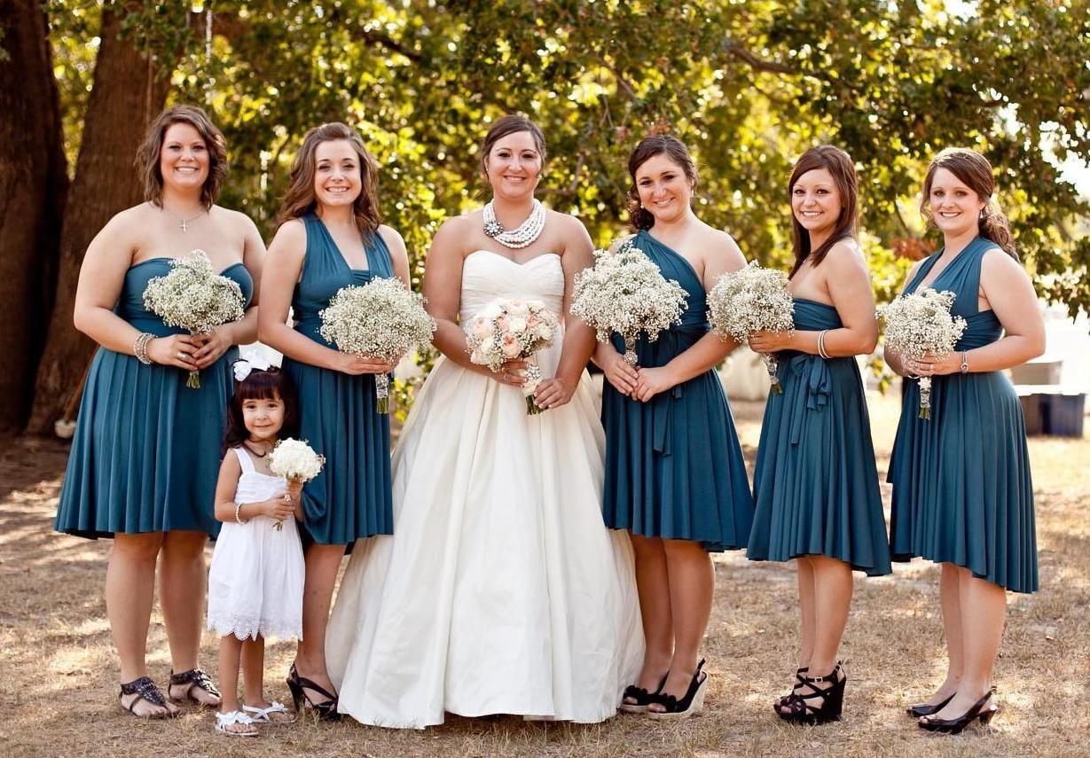 Bridesmaid dress short infinity wrap style zoom ombrellifo Gallery