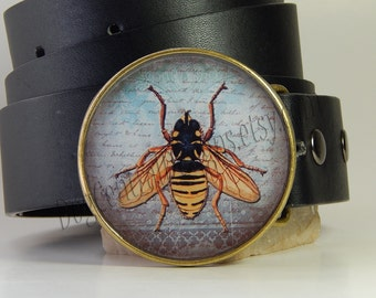 Bee Belt Buckle Womens Round Belt Buckle Insect Gift for Her Birthday Gift Summer Bugs Gifts for Him Mens Belt Buckle