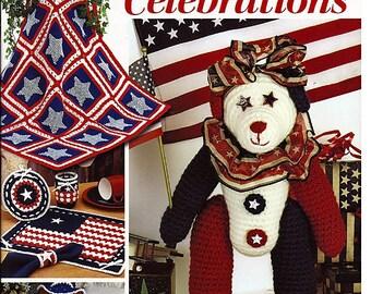 Red, White, & Blue Celebrations Crochet Pattern Annies Attic 875510