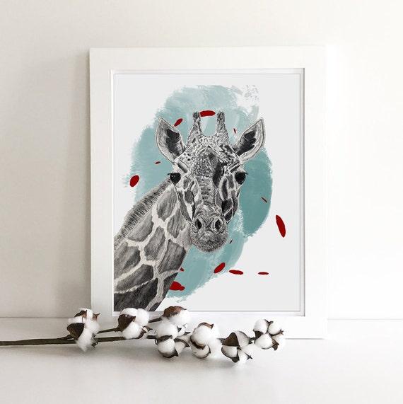 Jungle Animals - Zoo Animals - Giraffe Print - Zebra Print - Jungle Nursery - Nursery Safari Decor - Giraffe Art - Zebra Decor