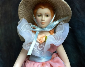 Vintage Southern Belle 1988 Avon Porcelain Doll Collection