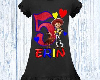 Jessie Toy Story Birthday Shirt - Girl's Toy Story Birthday Dress or Shirt