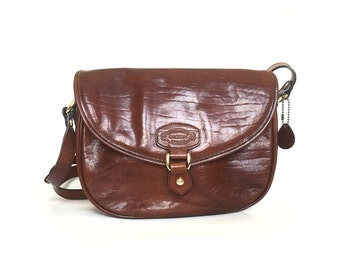 Crossbody bag, Leather purse, leather bag, brown leather purse, brown leather bag, vintage