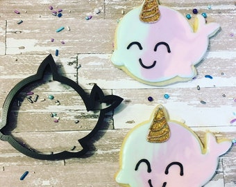 Adorable narhwal cookie cutter!