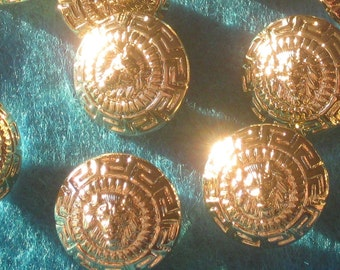 """Set 14 LION high Relief vintage New Old Stock Buttons 3/4"""""""