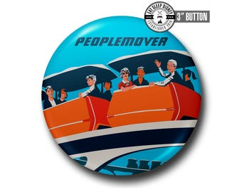 "Vintage People Mover - 3"" Button"
