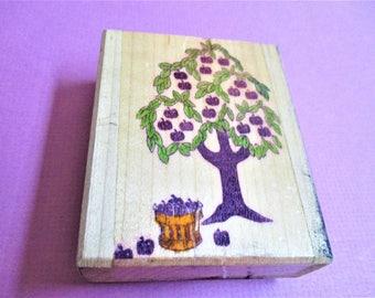 Large Apple Tree Papercraft Rubber Stamp Wood Block Mounted Stamp Scrapbooking Card Making DIY Invitations Craft Supply Stamp Apple Stamp