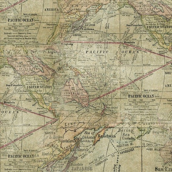 Tim holtz multi expedition map fabric yardage gumiabroncs Choice Image
