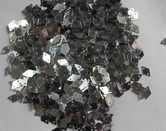 100 Silver Color Sequins/Diamond Shape/Metallic Texture/KBPS622