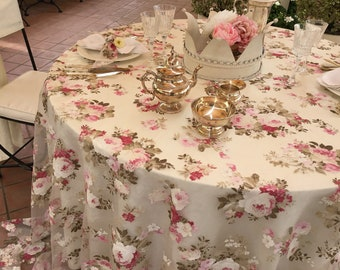 Luxury tablecloth burnout with roses