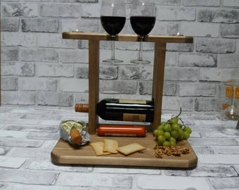 Christmas gift,candles, Cheese board, Wine rack,birthday gift,wedding gift, couples gift,house warming gift, anniversary gifts,medium oak
