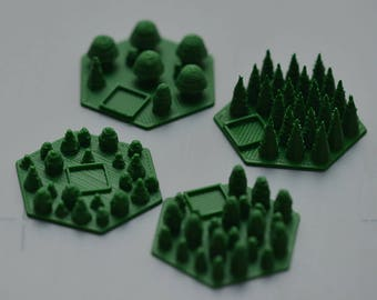 Hexes (forests) for Terraforming Mars