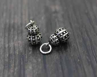 1pc sterling silver gourd pendant, sterling silver gourd charm,Chinese good fortune charm, Lucky Charm