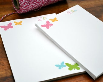 Butterfly Notepads /Personalized Notebook / Personalized Butterfly Note Pads/ Set of Notepads /  Set of 2 Butterfly Pads