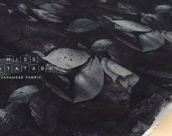 Japanese Fabric double gauze - leafy - A - 50cm