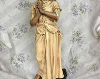 Antique 1800s French Statue of Jeanne d'Arc by named French Sculptor Auguste Arnaud Signed Rare