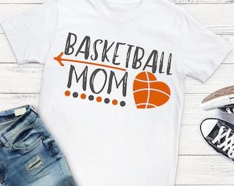 Basketball Mom SVG - Personalized Basketball SVG - Basketball SVG - Sports Mom svg - Files for Silhouette Studio/Cricut Design Space