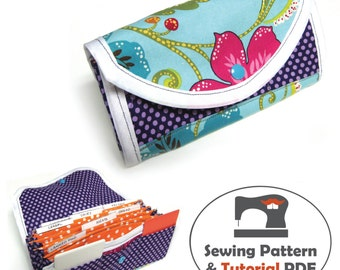 Coupon Organizer Pattern - Instant Download Accordion Wallet Sewing Pattern and Tutorial