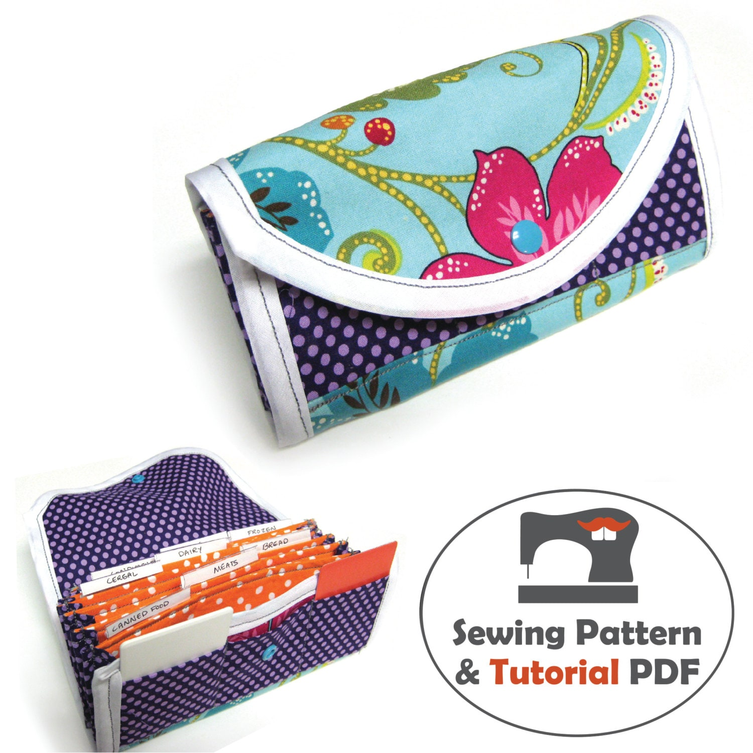 Coupon organizer pattern instant download accordion wallet zoom jeuxipadfo Choice Image