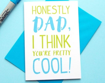 Cool Dad Fathers Day Card