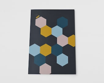 A5 Notebook Honeycomb Geometric