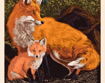 Prince Edward Island - Fox and Kit Letterpress (Art Prints available in multiple sizes)