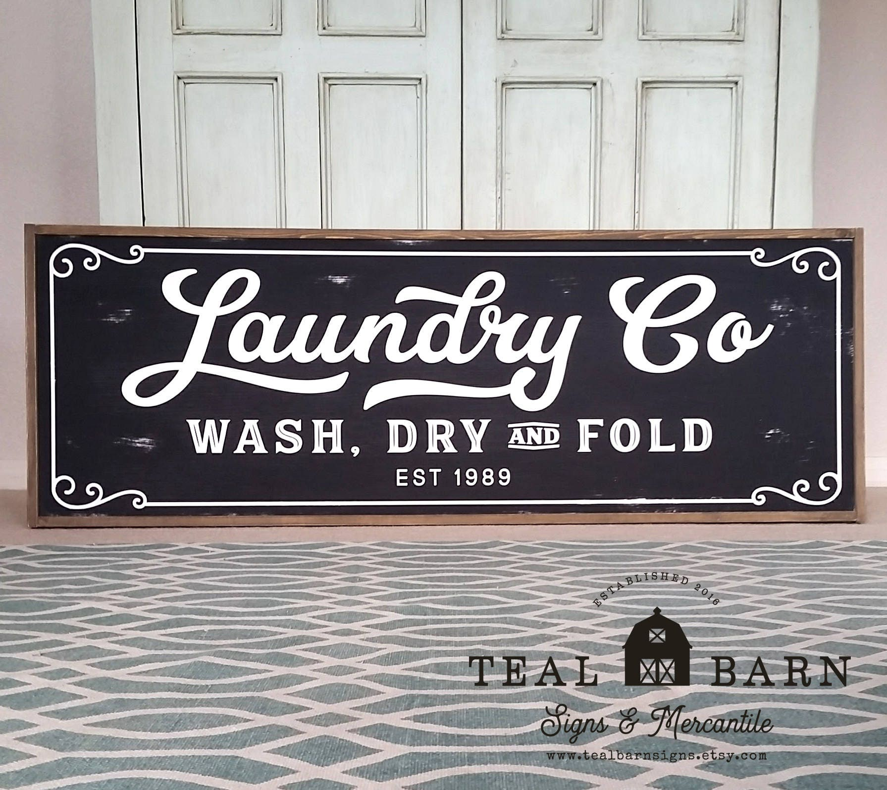 Laundry And Co Sign Laundry Co Wash Dry And Fold Personalized Sign Farmhouse