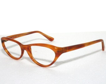 Neostyle 60's Eye Glasses Astrid Ginger Orange Oval Eyeglasses Medium Sized Frame Eyewear FREE SHIPPING 1960's Rx