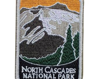North Cascades National Park Patch - Mountains, Trees, Washington (Iron on)