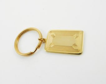 Vintage Gold Etched Keychain