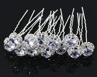 Wedding hair pin Crystal bridal hair pins piece hair accessories jewelry crystal tiara gift for bride