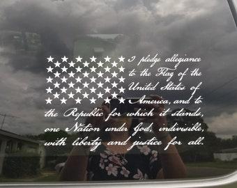 Pledge of Allegiance Decal