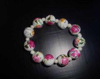 Pink Stretch Bracelet with stone