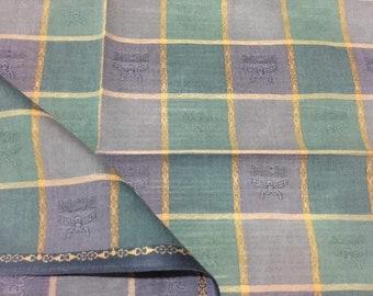 Checkerboard pattern handkerchiefs, scottish bandana, green and purple color, scarves,headscarves