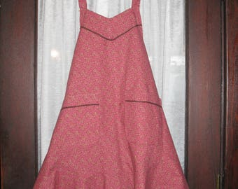 Pink and Gold Ruffled Apron