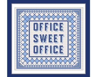 Buy 1 Get 1 Free. Office Sweet Office Cross Stitch Pattern.(#P- 1248). Office - Modern Cross Stitch Pattern. INSTANT DOWNLOAD