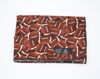 """Football Extra Large Receiving Blanket - 36"""" x 42"""""""